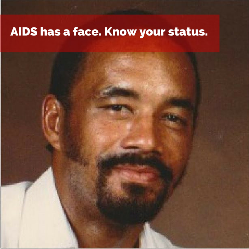 AIDS has a face. Know your status.(1)